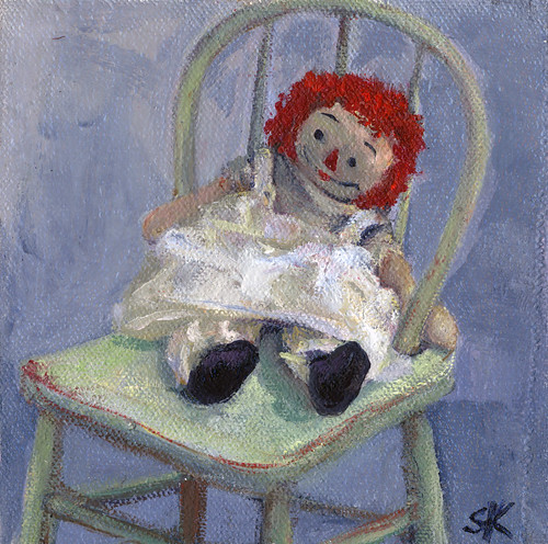 Raggedy Ann Waits | by Suzy Kitman Paints