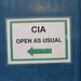 CIA sign