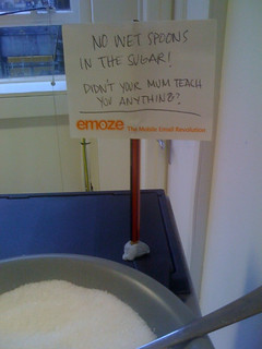 """No wet spoons in the sugar!"" 