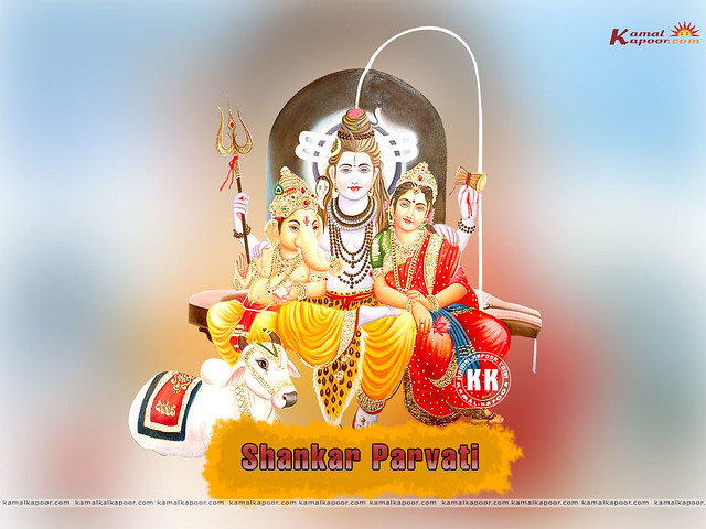 wallpaper of shiv and parvati