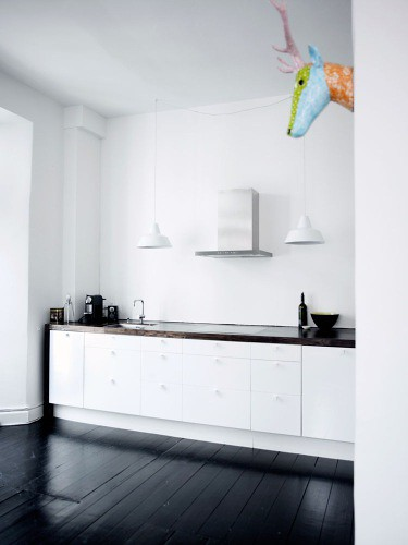 White Kitchen Black Floor kitchen black floor ~ furniture inspiration & interior design