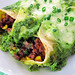 Beef and Corn Enchiladas with Spinach Cream Sauce (Green Goddess Enchiladas)