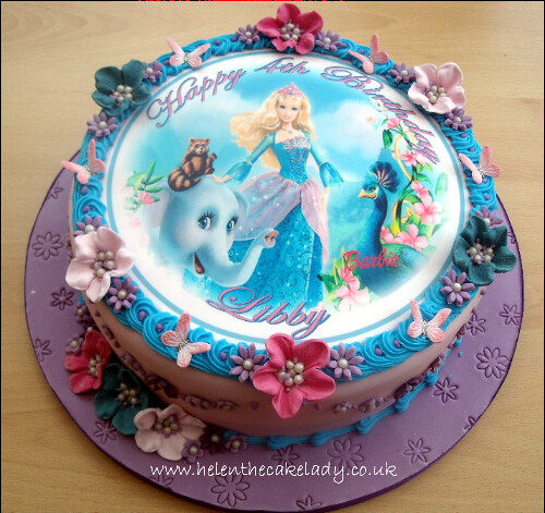 Cake Decorating Barbie Cake Recipes : Barbie photo birthday cake an edible photo sheet has ...