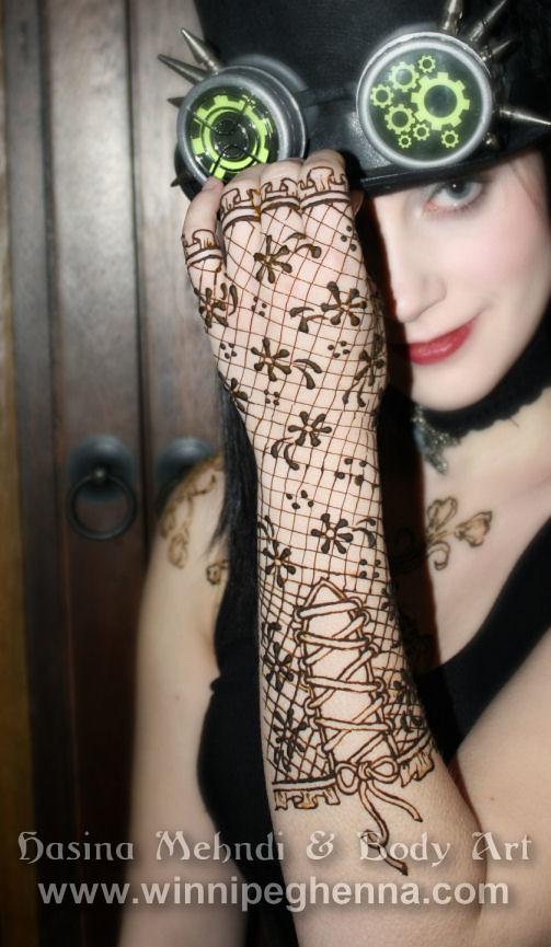 Steampunk lace glove henna winnipeg the lovely mara for Lace glove tattoo