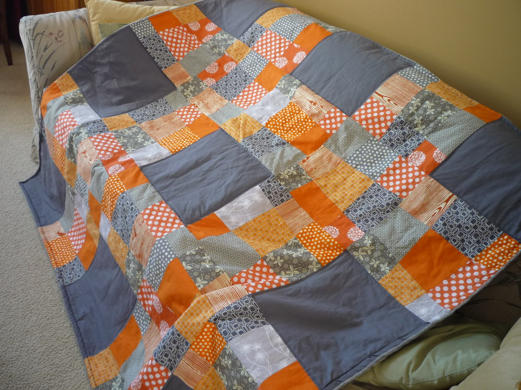 Orange And Gray Quilt Pattern From Oh Fransson Crazy 9