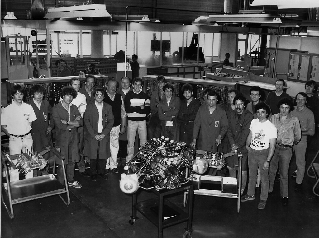 ayrton senna visiting 1986 photo de groupe l 39 usine de flickr. Black Bedroom Furniture Sets. Home Design Ideas
