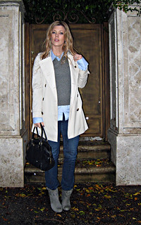 burberry trench coat+jeans+sweater vest+boots+doorstep+rain | by ...love Maegan