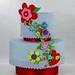 Button Flower cake - White