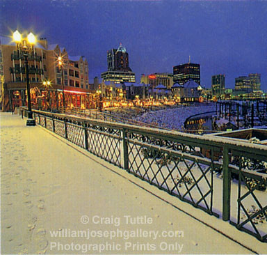 Tuttle Portland Waterfront Marina Winter Snow Or Nw Us