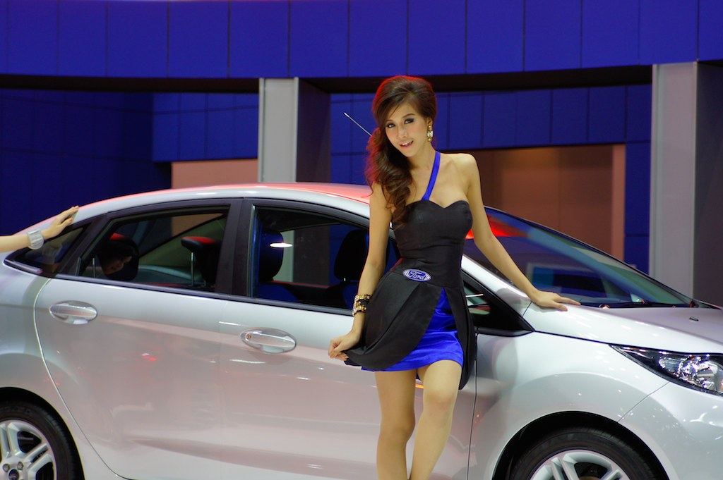 girls and cars   another motor show in bangkok ford is   flickr