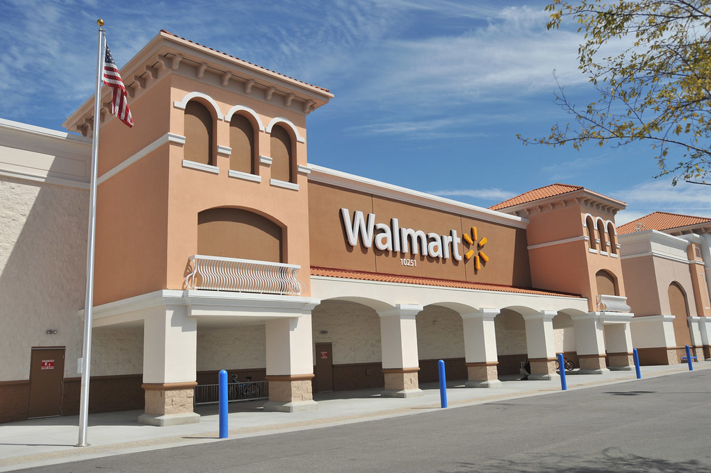 Walmart store exterior | In 2008, Walmart changed it's