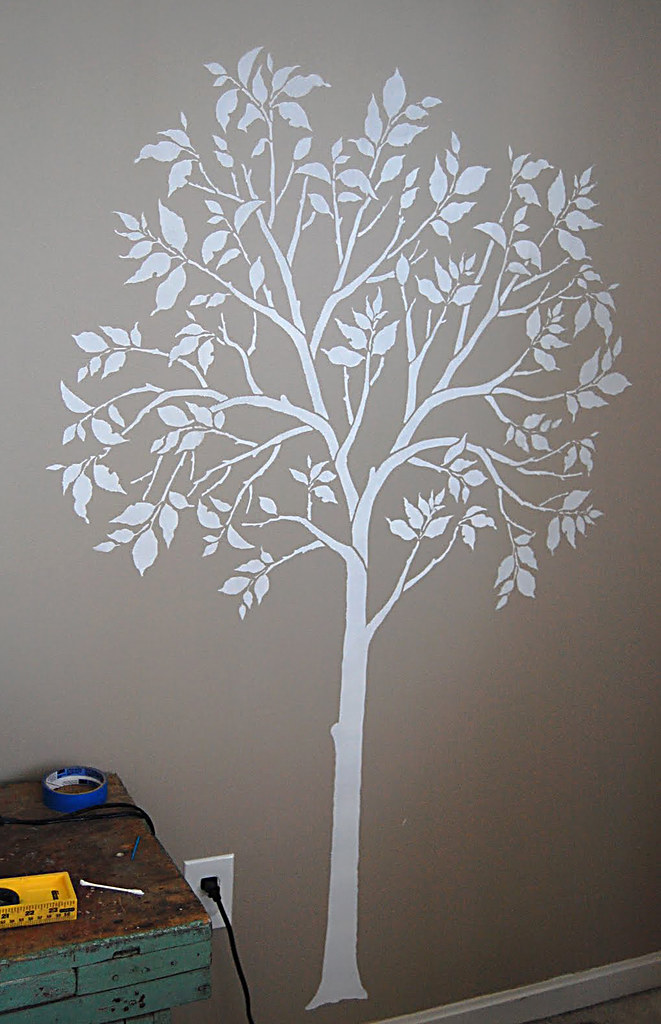 Painted Tree Stencil Even Better Than Decal Cutting Edge