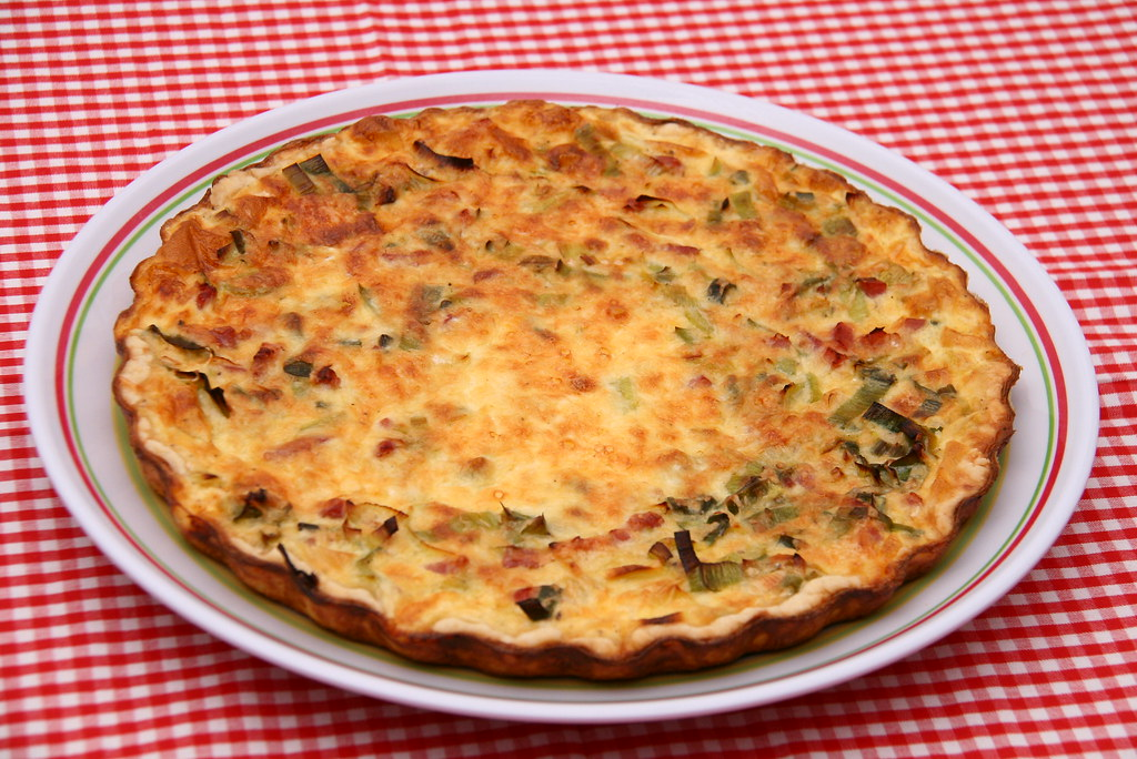 bacon lauch quiche rezept hier flickr. Black Bedroom Furniture Sets. Home Design Ideas