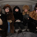 Young yakut ladies, with winter dresses, in a car © Bernard Grua 2010