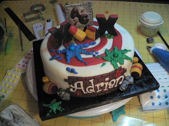 Paintball Birthday Cake Topper