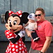 Daddy and Ava at Disneyland with Minnie.