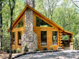 Exterior of this large pigeon forge cabin rental near for Gatlinburg dollywood cabins