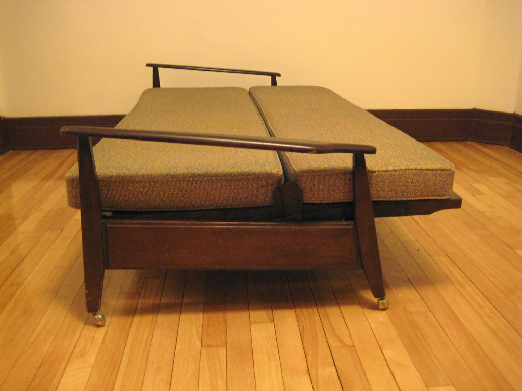 Vintage Tweed Folding Couch Exceptional Vintage Sofa Bed