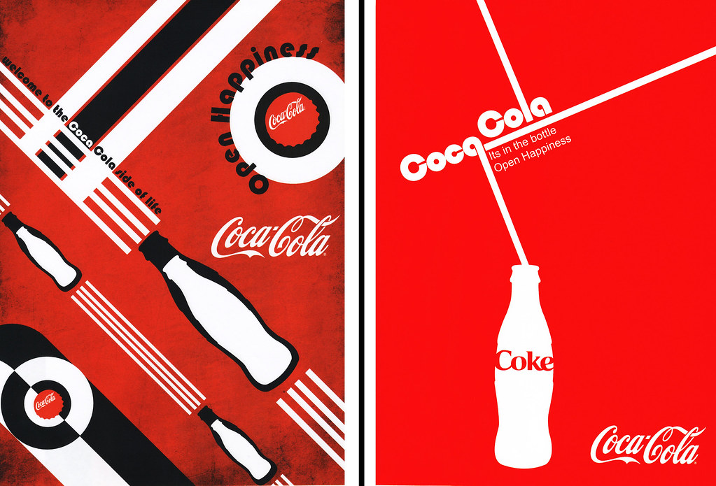 Coca cola bauhaus inspired the pair of posters here were for Replica bauhaus