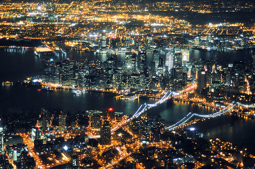en route to laguardia at night, new york city | by andrew c mace