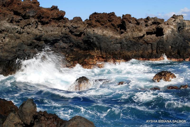 Acantilado la palma piedra de lava volcanica efecto seda for Piedra volcanica