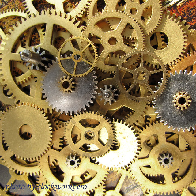 brass clock gears how many clocks have i dismantled over