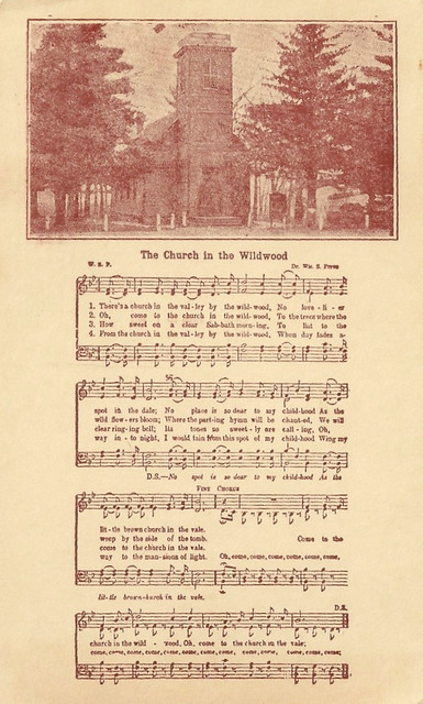 Music The Church In The Wildwood Sheet Music Flickr