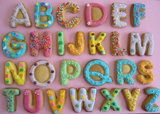 Alphabet Cookies Baking Activity Done With My Daughter