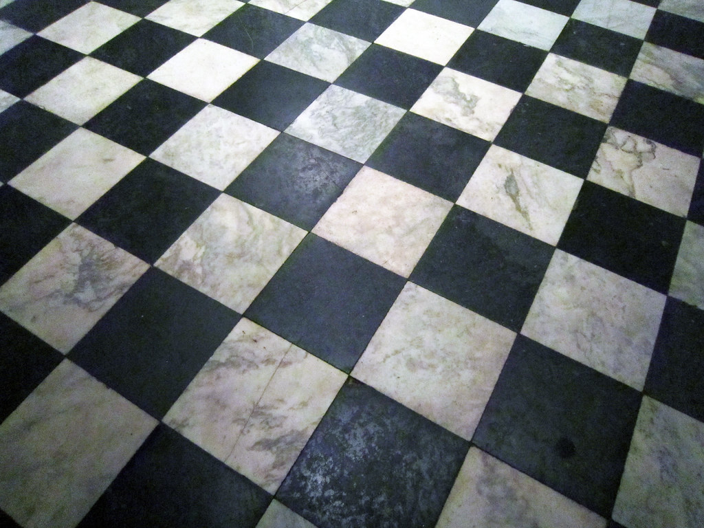 Black And White Marble Tile In The Southeast Gallery Flickr