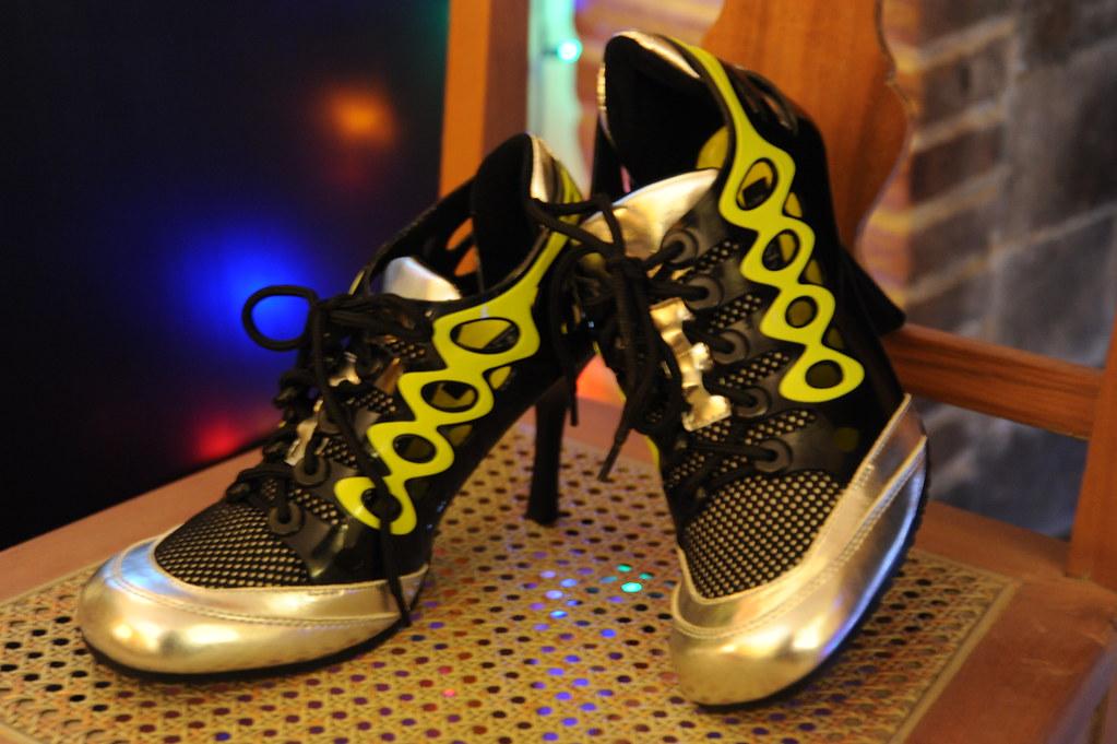 Black Silver Shoes