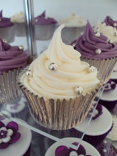 Purple & White Cupcakes | by Heavenly-Cupcakes