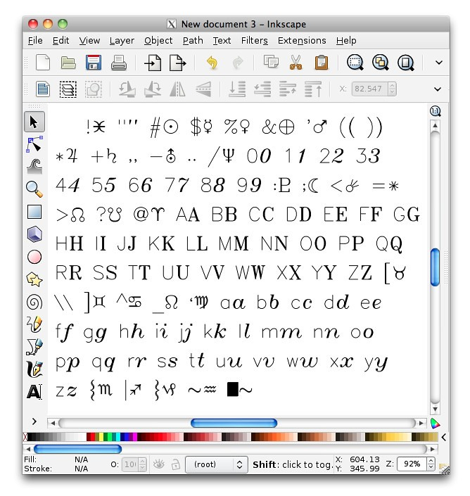 d69cacb358e6b glyphchart   Working on a Hershey font extension for Inkscap…   Flickr