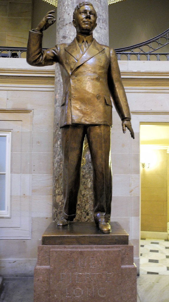 Huey Long Of Louisiana In Us Capitol National Statuary Hal