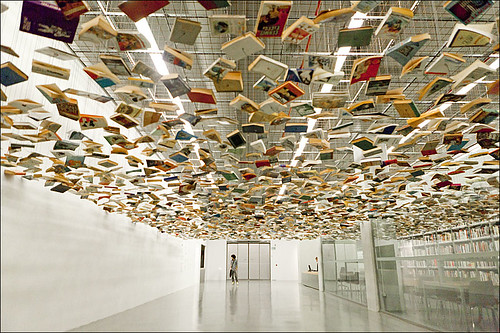 Suspended books | by hanifoto