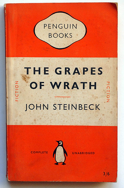 What literary devices are used in John Steinbeck's book, The Grapes of Wrath?