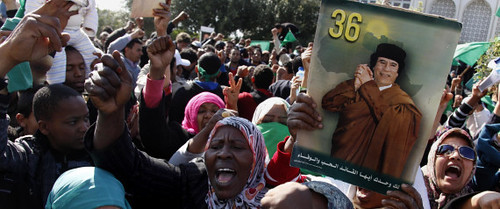 Libyans demonstrated in support of the government opposing the imperialist plot to destabilize the North African oil-rich state. The Obama administration engineered regime-change in this country that once served as chair of the African Union. | by Pan-African News Wire File Photos