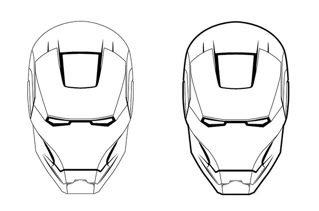 Ironman Helmet Drawing Iron Man Helmet Drawing