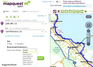 Mapquest adds bike directions | by Richard Masoner / Cyclelicious