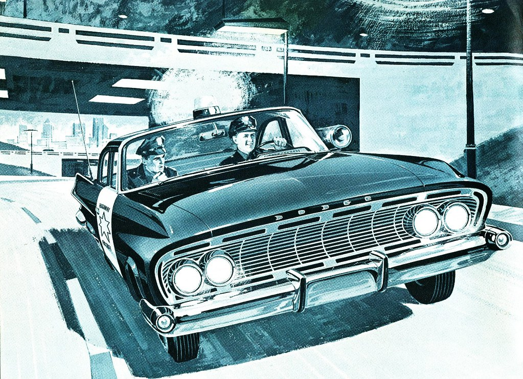 1961 dodge highway patrol police pursuit engine choices. Black Bedroom Furniture Sets. Home Design Ideas