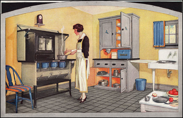 1925 nesco oil stove source ladies home journal from for Kitchen ideas for 1920s house