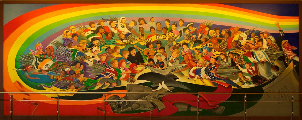Denver Airport Art Wall Mural By Leo Tanguma The