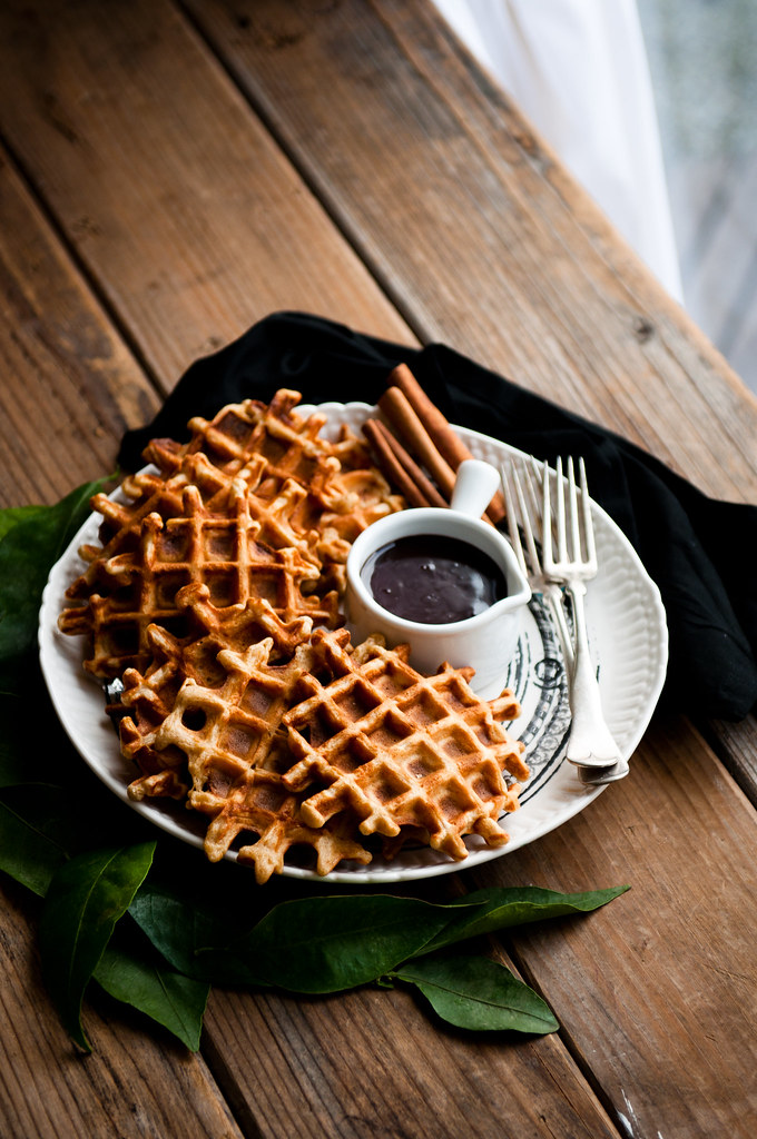 Orange Cinnamon Waffles with Hot Fudge | = *ahem* desserts ...