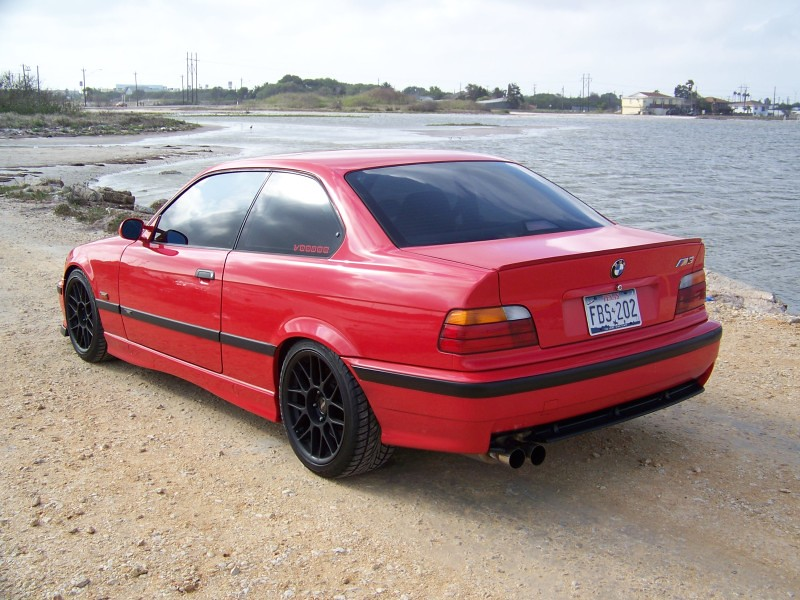 red e36 m3 with matte black wheels rear | 17x9 ...