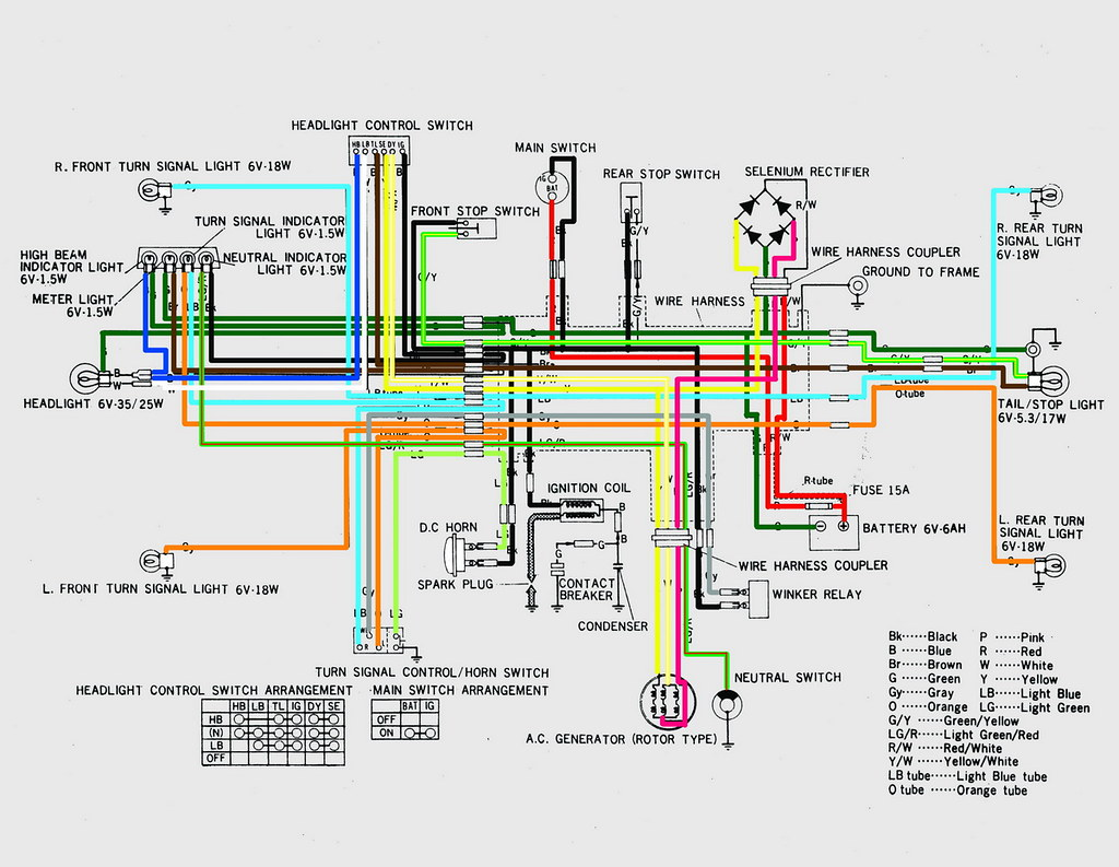 honda cb wiring diagrams hendro flickr
