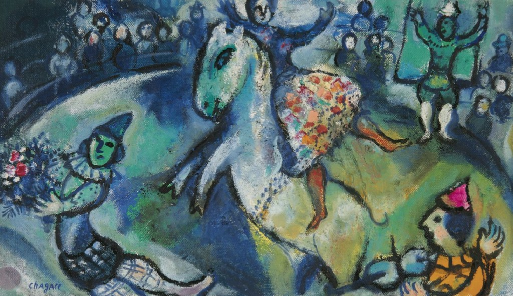 C Marc Chagall Scene De Cirque 1958 Quot Dedicated