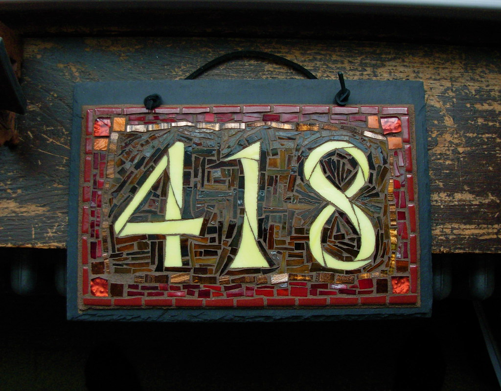 """House Number Design Ideas: 12x8"""" Slate This One Went To Elkins"""