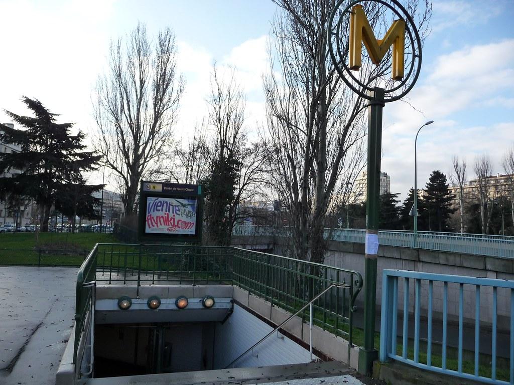 La station de metro place de la porte de saint cloud for La poste porte de saint cloud