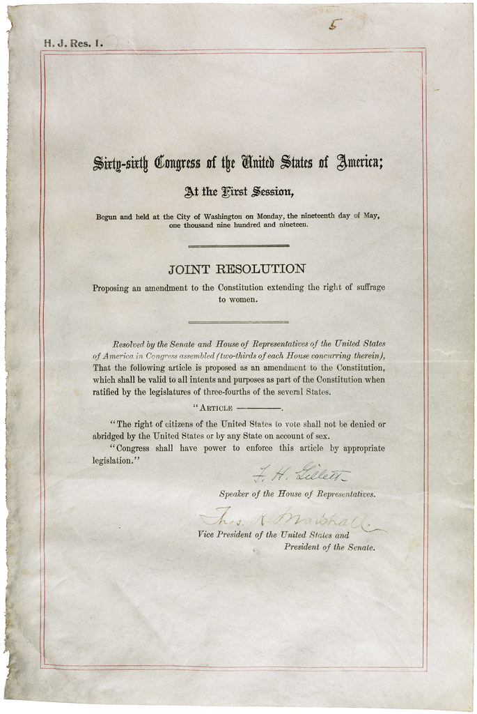 Nineteenth Amendment to the United States Constitution, 06 ...