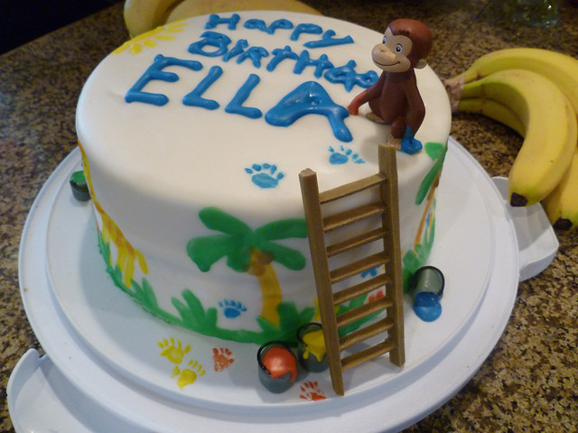 Curious George Paints A Birthday Cake Flickr Photo
