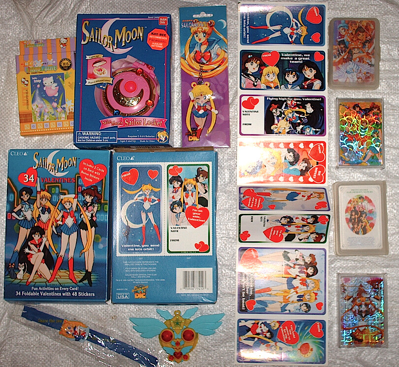 Sailor Moon Valentines Day Cards Watch Playing Cards L